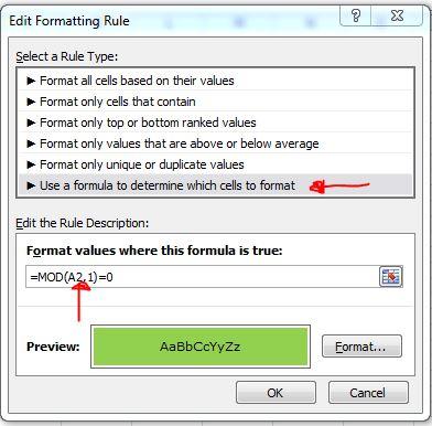 Custom Formatting