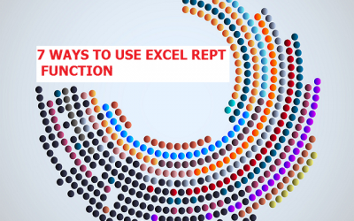 7 WAYS TO USE EXCEL REPT FUNCTION