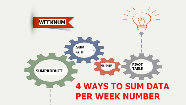 4 WAYS TO SUM DATA BY WEEK NUMBER