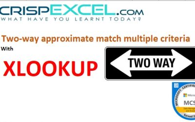 XLOOKUP Two-way approximate match multiple criteria