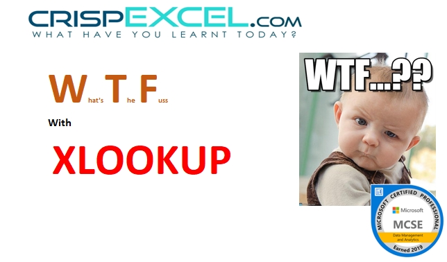 WTF with XLOOKUP Function
