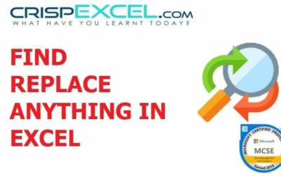Find and Replace ANYTHING in Excel